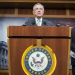 Senate Minority Leader Harry Reid (D) hailed the failed vote to advance debate on a nuclear agreement with Iran.|Reuters
