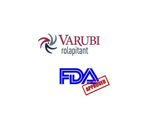 The U.S. Food and Drug Administration approved Varubi (rolapitant).